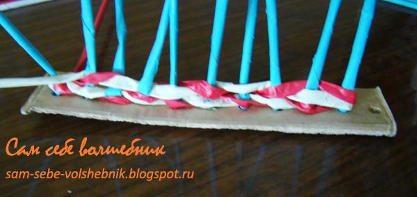 Простое плетение веревочкой. Плетение из бумаги. Мастер-класс