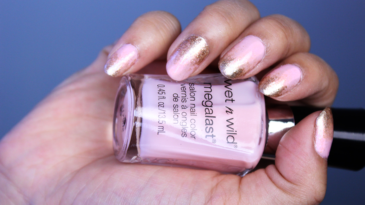 ahanhbarbie easy gradient nails pastel pink and gold