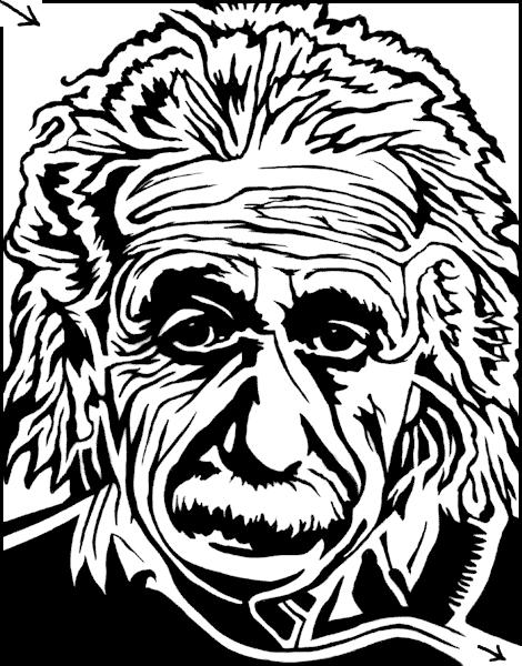 Labyrint tegning af Albert Einstein