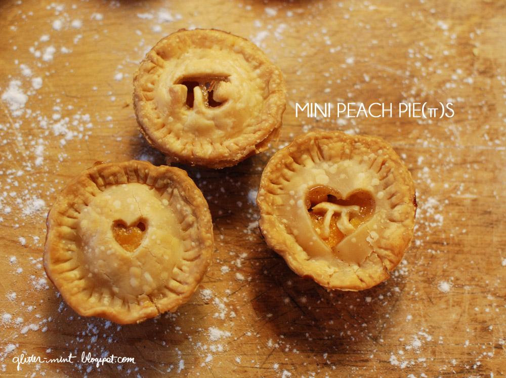 Glitter Mint: Mini Peach Pie(π)s