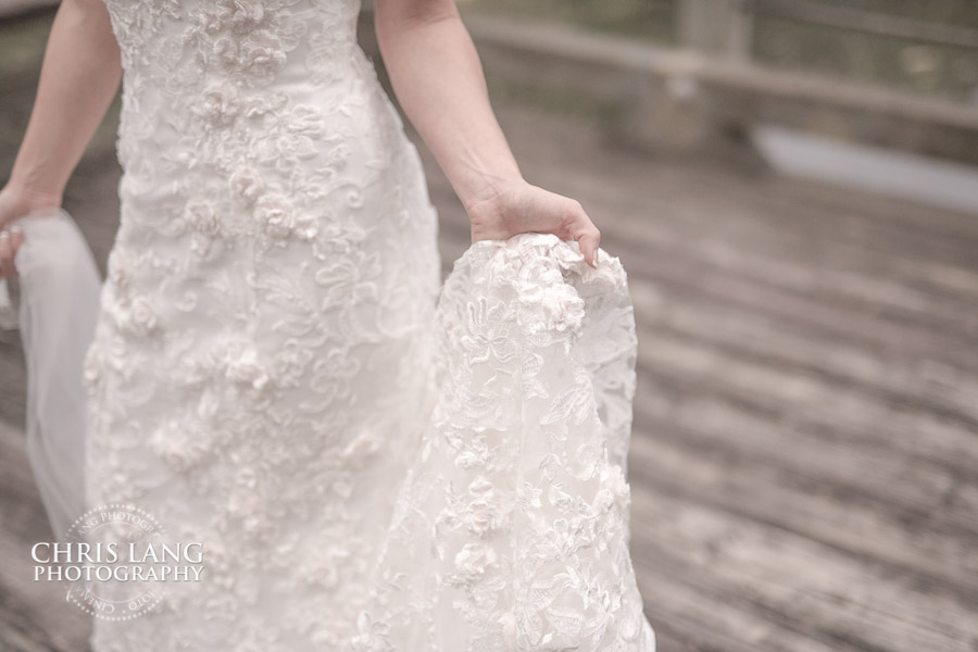 River Landing Bridal Session - Wedding Dress