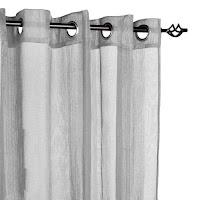 cortina visillo gris
