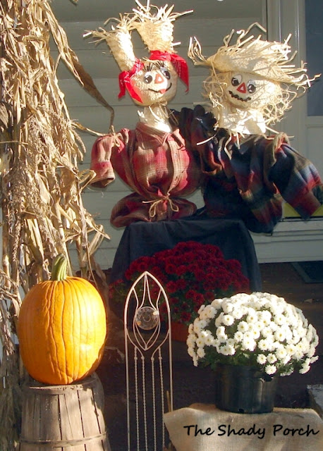 #pumpkins #mums #scarecrow #decorations #fall #autumn #porch
