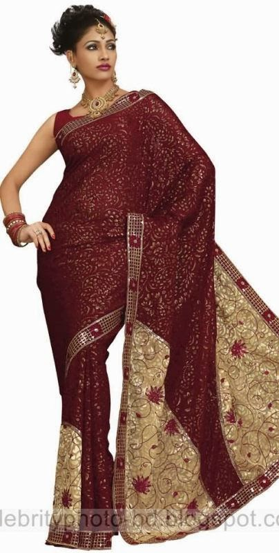 Girls%2BStylish%2BSaree%2BCollection%2BFor%2BEid%2BFestival%2B2014 2015002