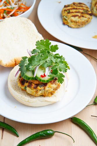 Chicken Satay Burgers on Closet Cooking