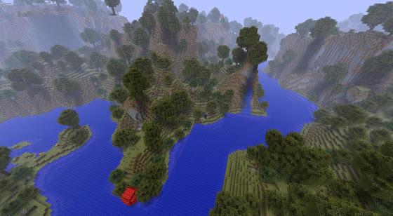 Rivière Minecraft
