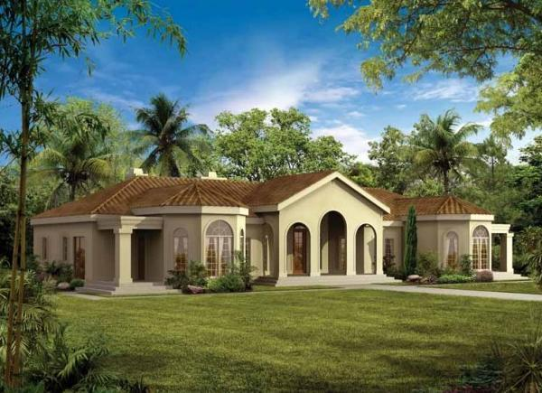 Fotos de terrazas terrazas y jardines planos de casas for Spanish style ranch house plans