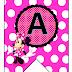 Banderines con Alfabeto de Minnie Rosa.