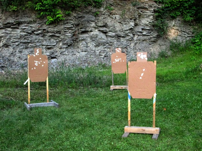 draw from ankle holster and engage one target with ahead shot, the remaining with two body.