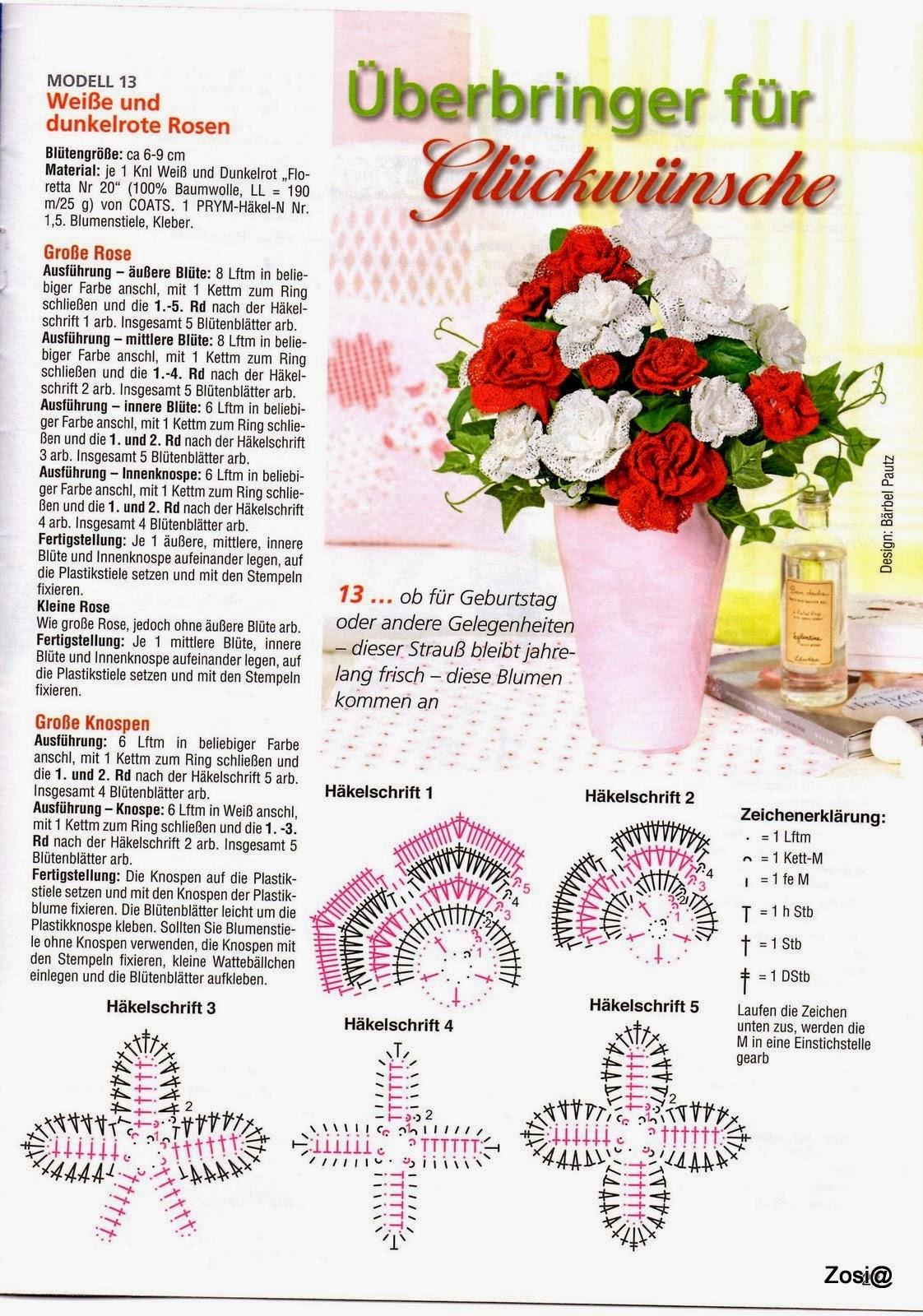 I книги и журналы по вязанию цветов