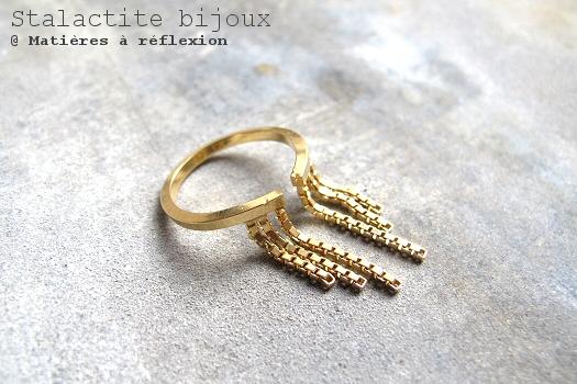 Bague chaîne Stalactite bijoux vermeil Cascade