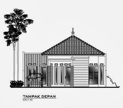 Sketsa Eksterior Rumah N&ak Depan