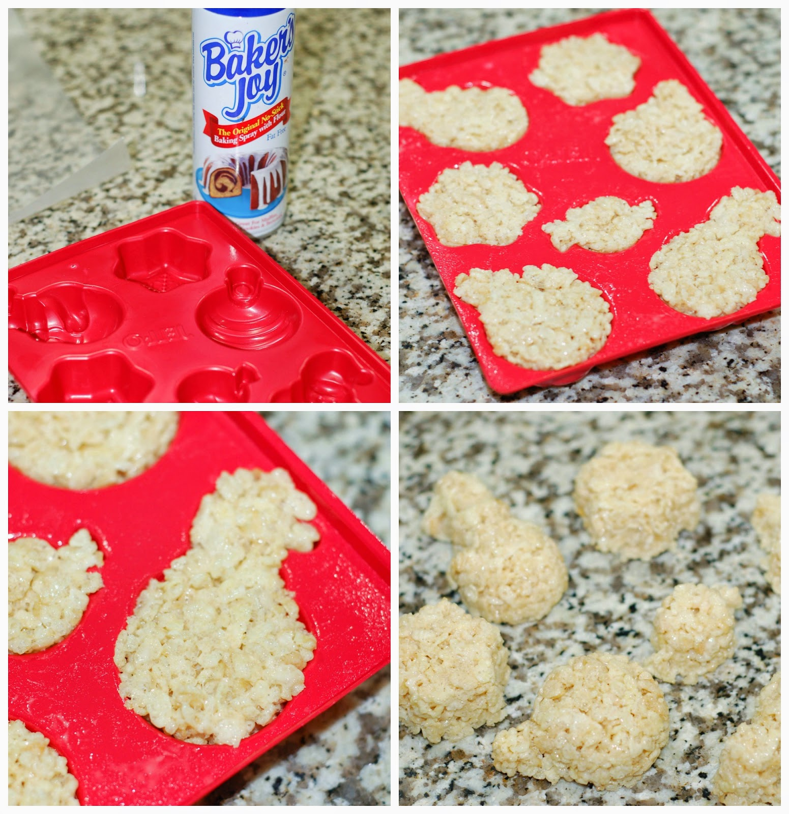 Making Xmas Rice Krispie Treats by The Sweet Chick