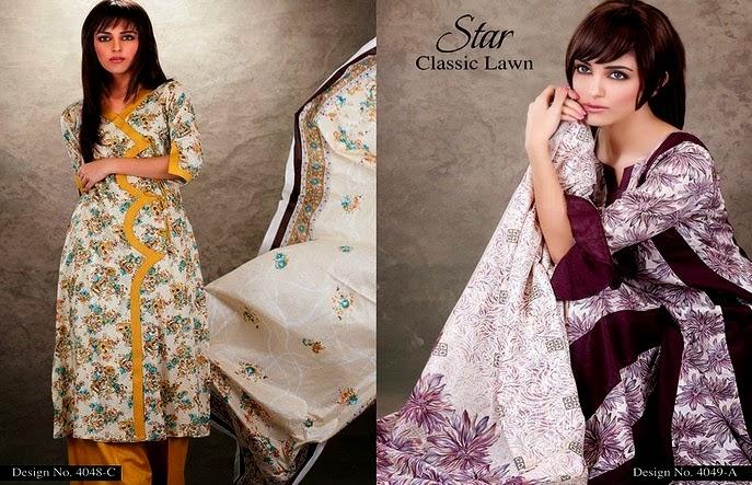 Star Classic Lawn Dresses Designs