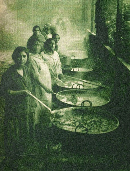 Chilean Women Working in Community Kitchen during The Great Depression in Chile