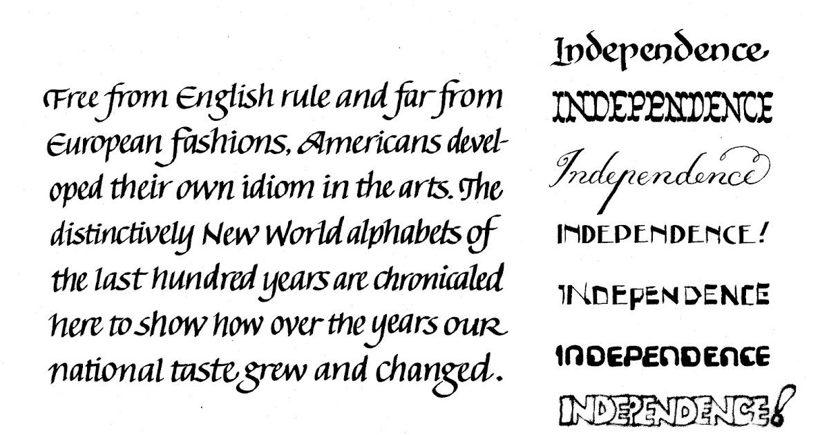Margaret Shepherd: Calligraphy Blog: Seven American Kinds of ...