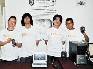 alumnos ipn desarrollan turorial en android de algebra