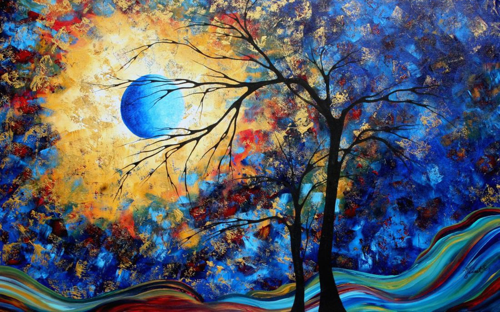 Wallpapers colorful paintings wallpapers for Creative paintings pictures