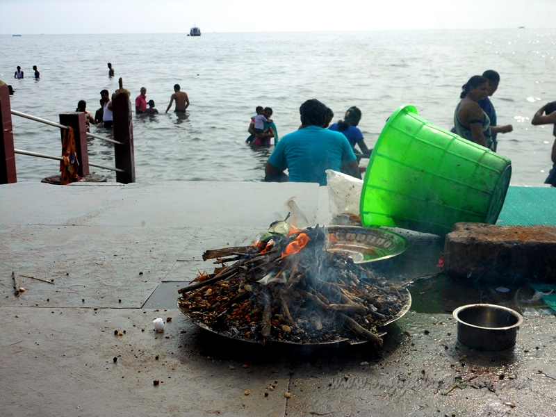 At the Shores of the Ramanathaswamy Temple Sea, Rameshwaram, Tamil Nadu