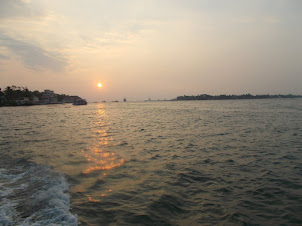 Sunrise over  the  Arabian sea in Kochi..