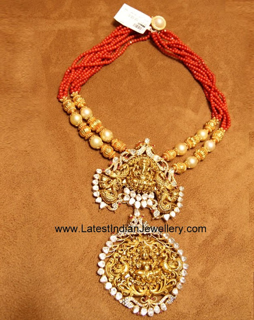 Coral Beads Nakshi Necklace