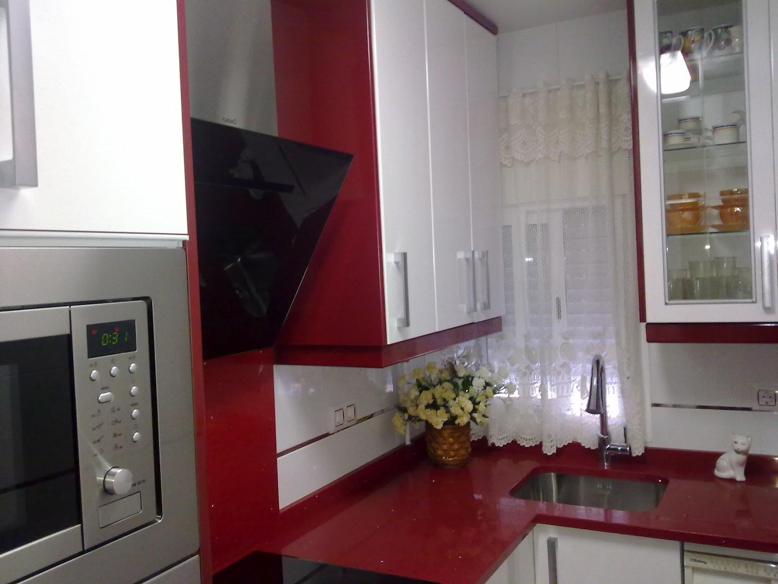 Modelo formica alto brillo blanco granate encimera for Muebles de cocina sueltos