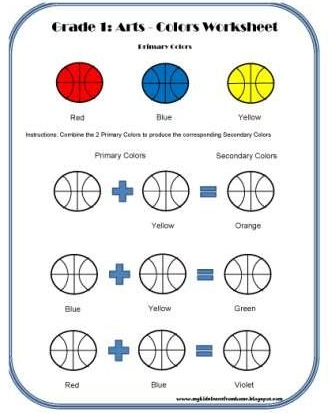 My Kids Learn from Home Grade 1 Arts Colors Worksheet