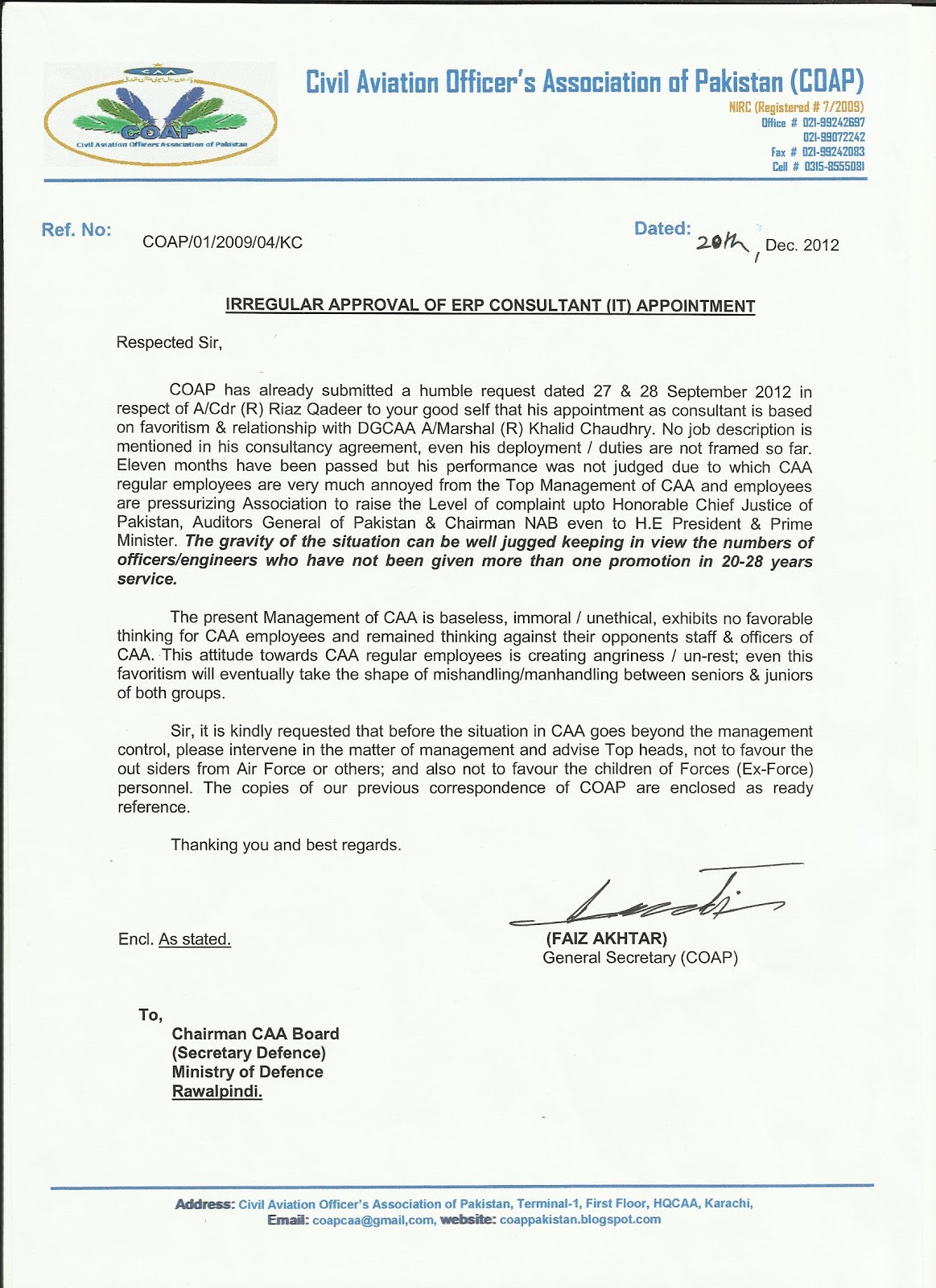 [Appointment Letter Format Advocate] appointment letter