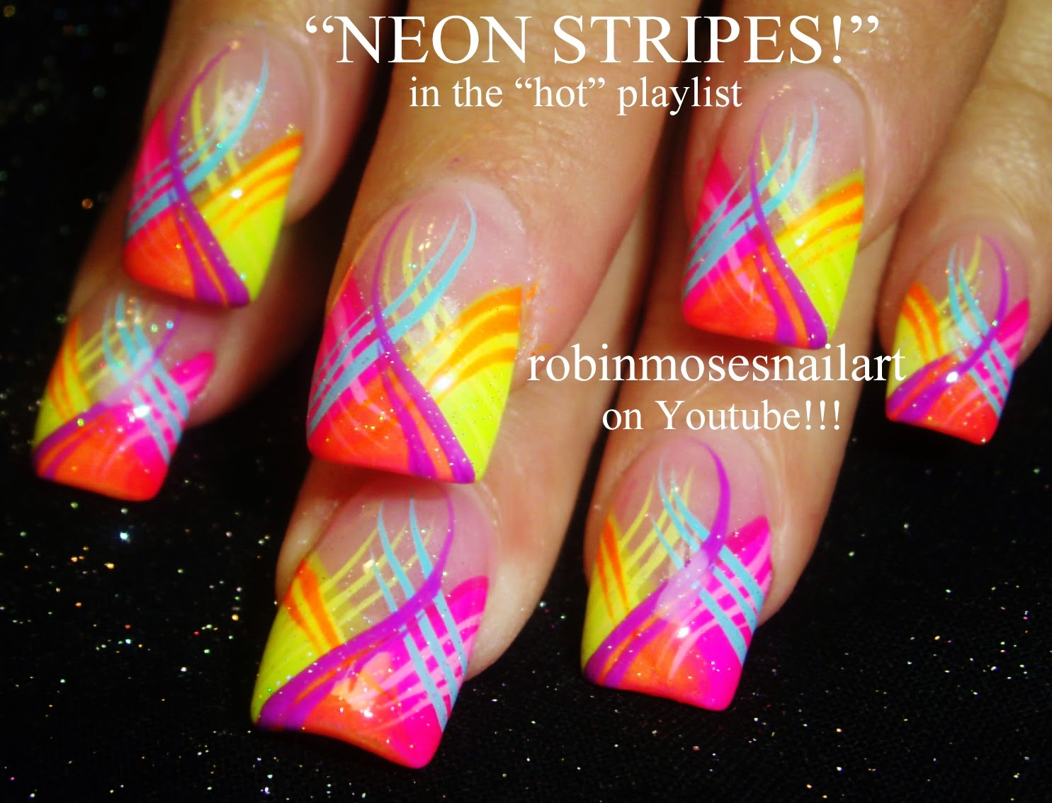 Hot Nail Art Playlist | Easy Nail Art Tutorials | Fierce Nail Design Ideas  for beginners to Advanced Nail Techs! - Robin Moses Nail Art: Bright And Colorful Trendy Kiss Prints