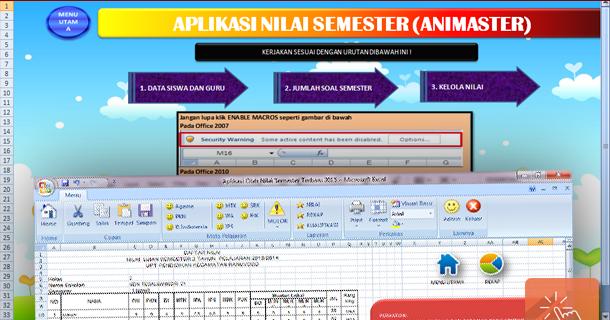 Aplikasi Pengolahan Nilai Semester Dengan Microsoft Excel Wiki Edukasi