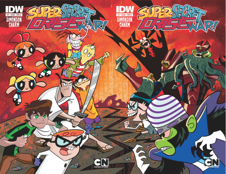 Cartoon Network Super Secret Crisis War Comic Series ...