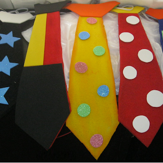 ¡Como hacer coloridas Corbatas de Payasos!