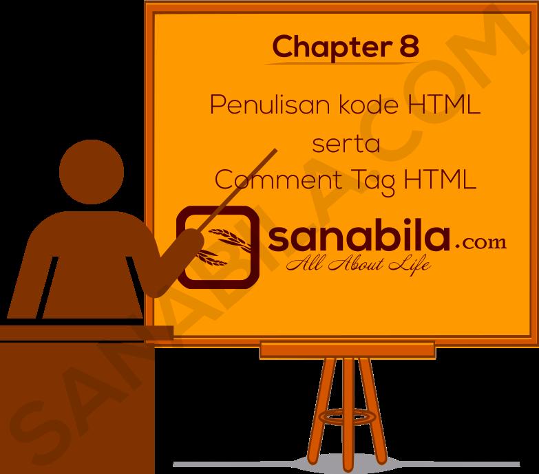 Penulisan kode HTML (Clean code), Escape Code, dan Comment Tag Pada HTML