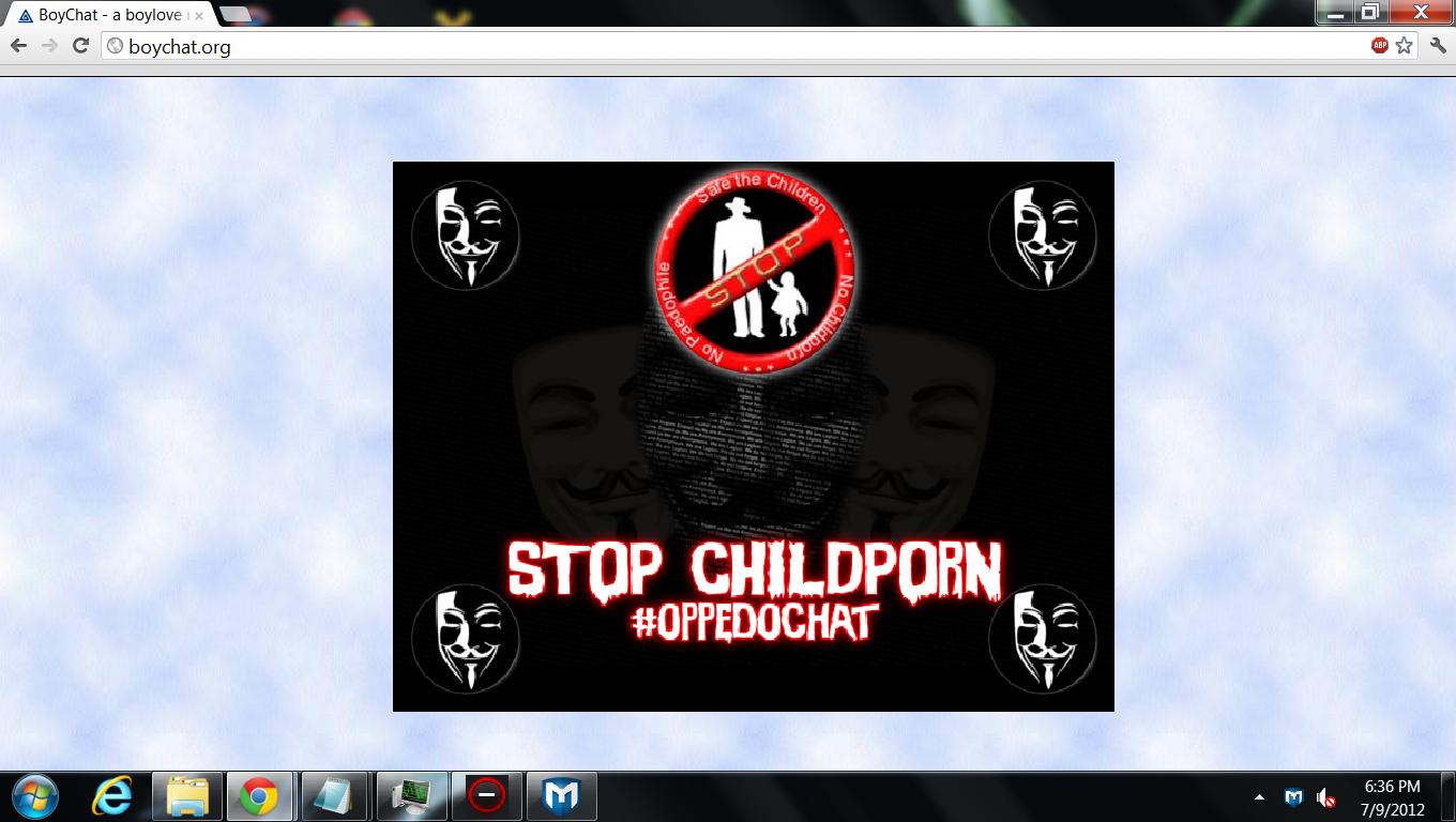 ... these websites, leaving calling cards as a warning for the pedophiles ...