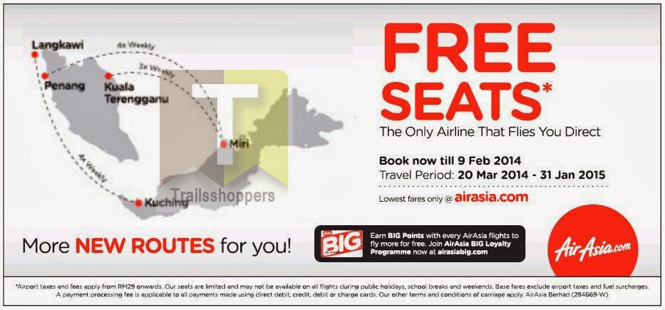 Airasia FREE Seats Offer