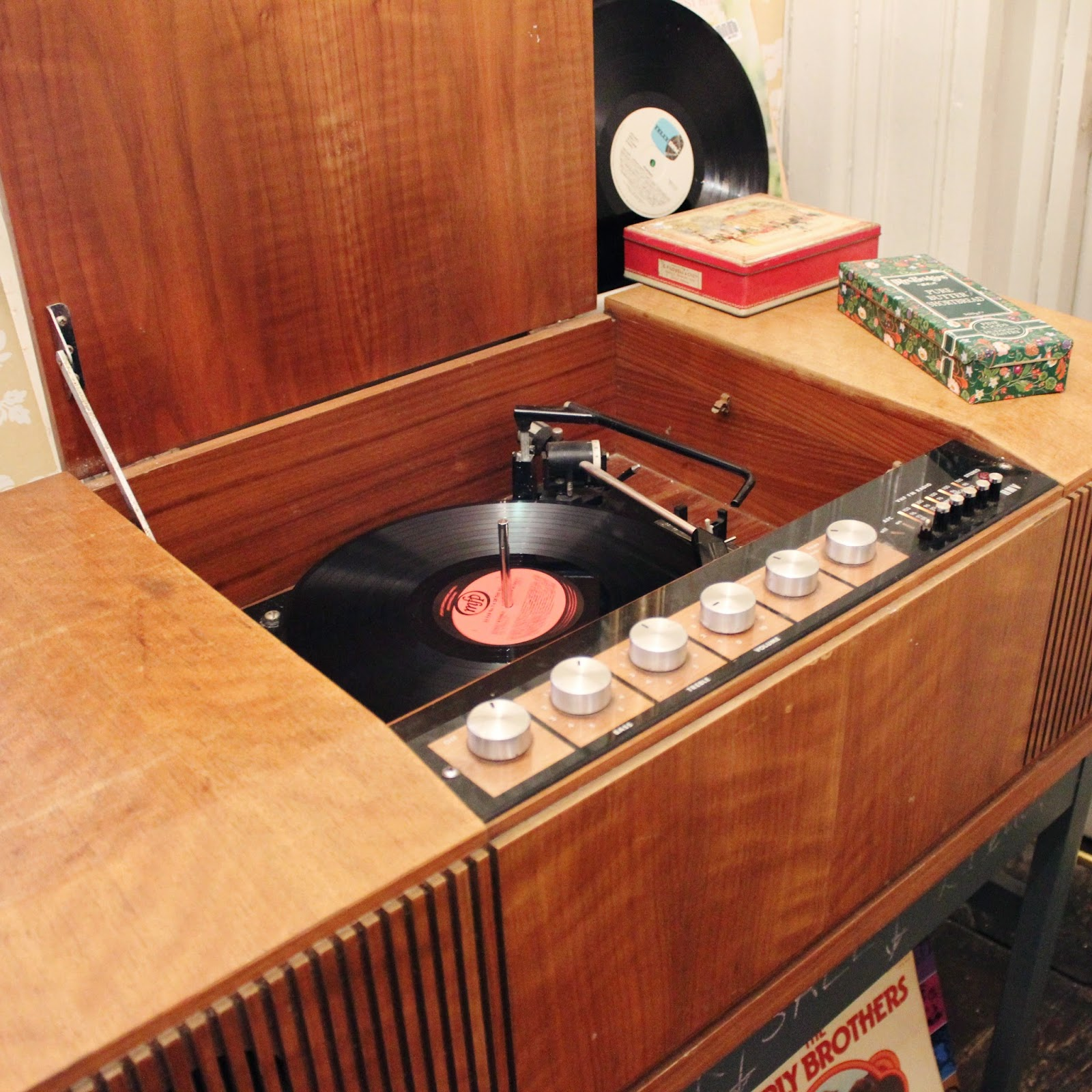 Curious Tea Room Oswestry Vintage Record Player
