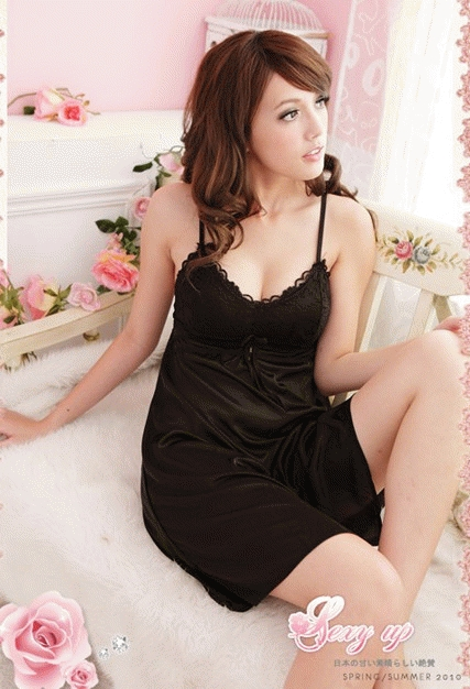 Baju Tidur sc7704 hitam