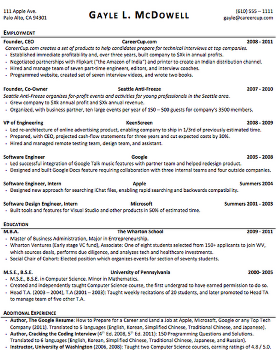which resume format is most effective