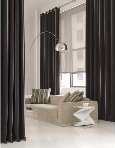 Drapery and shade ideas floor to ceiling grommet drapes for Curtains floor to ceiling windows