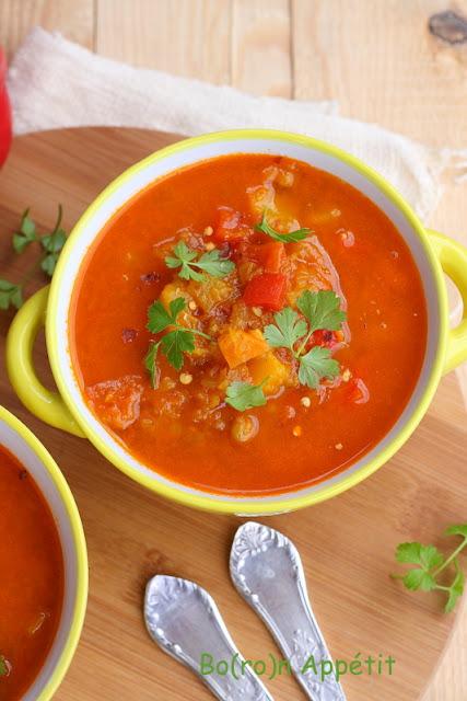 Zupa dyniowa z soczewicą przepis