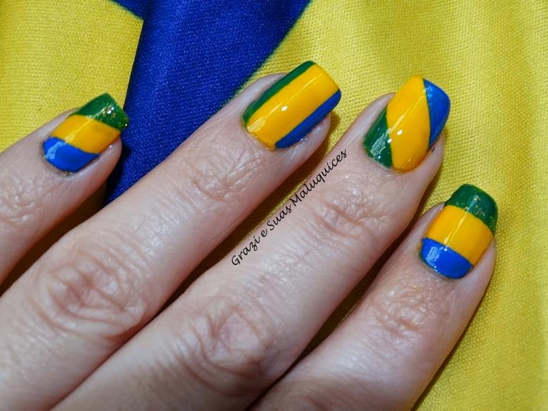 Nail Art Listrada Para a Copa