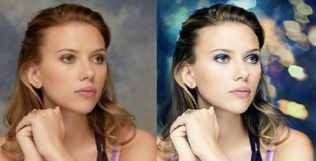 Scarlett-Johansson antes y despues photoshop