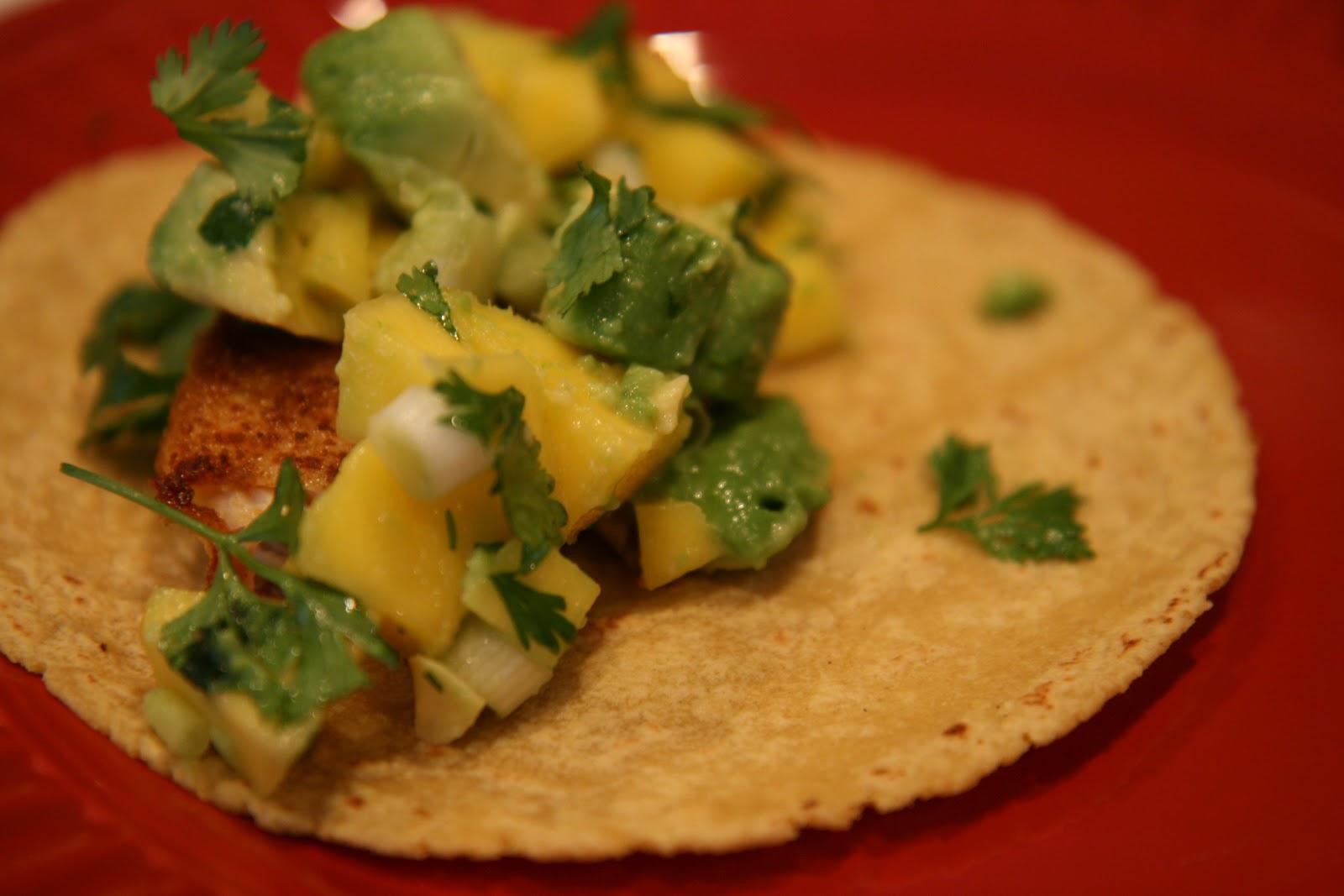 Oc mom blog tilapia fish tacos with mango and avocado salsa for Tilapia fish tacos