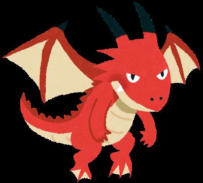 ドラゴンのイラスト(空想上の生物)