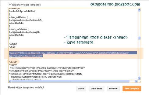 Mengganti icon di Blogspot melalui kode HTML.