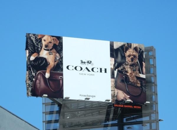 Coach pups handbag billboard