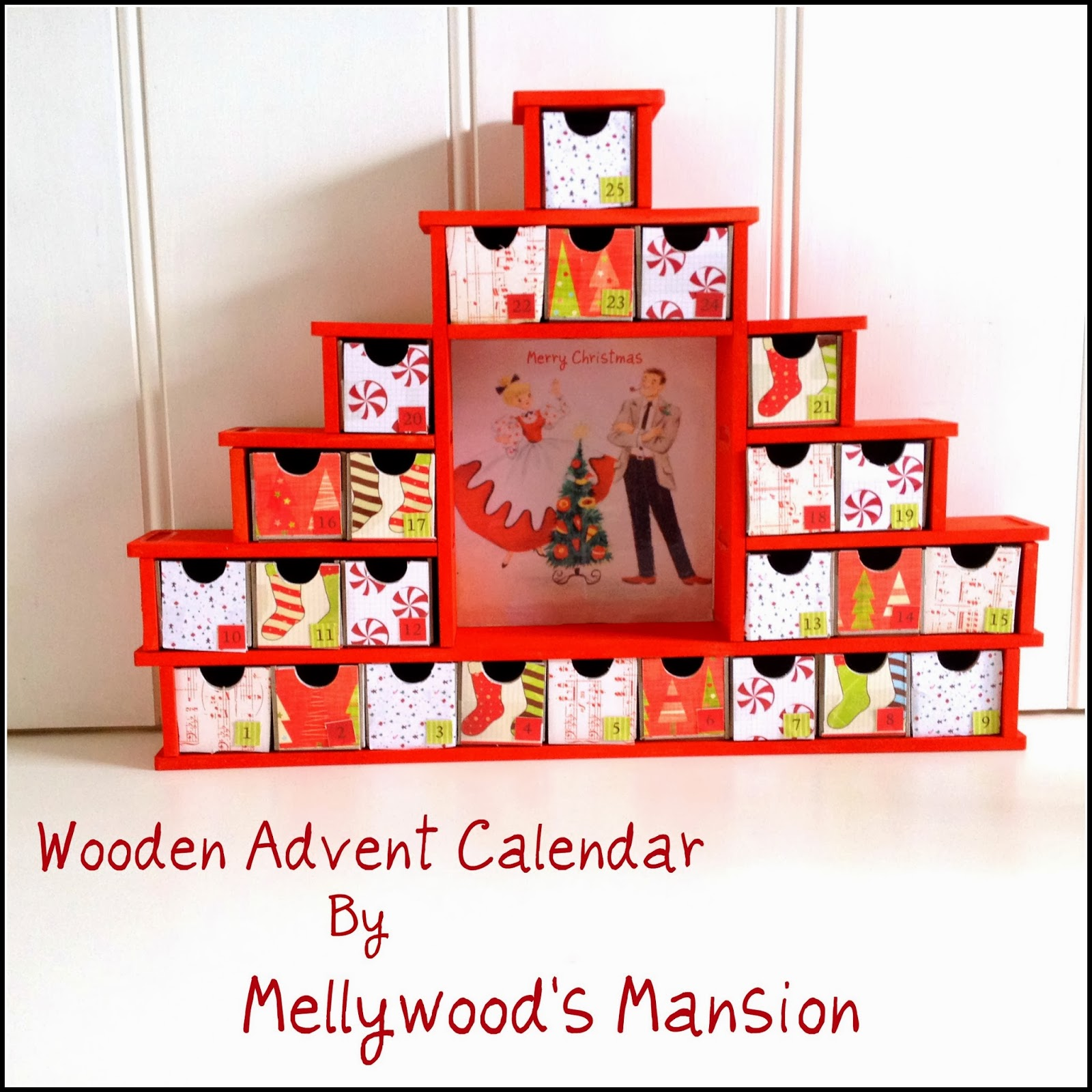 our pinteresting family wooden advent calendar by. Black Bedroom Furniture Sets. Home Design Ideas