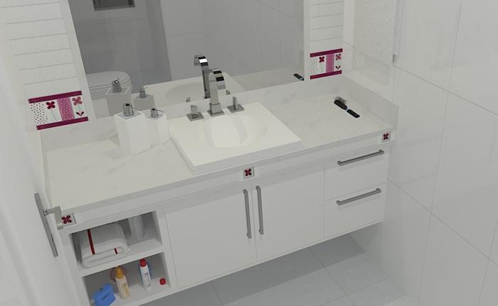 Casei, quero casa Granito do banheiro  Branco Prime -> Pia De Banheiro Branco Prime