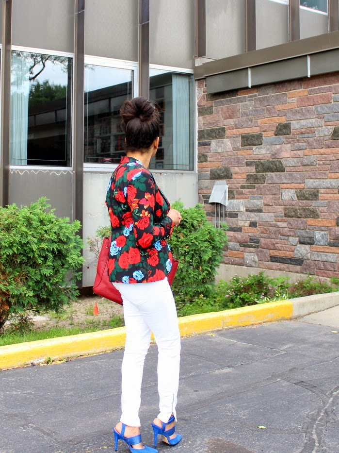 white jeans, anjolee, style optimist, high bun, minneapolis blogger, minneapolis fashion blogger, midwest style blogger, sigerson morrison brielle 2 pumps