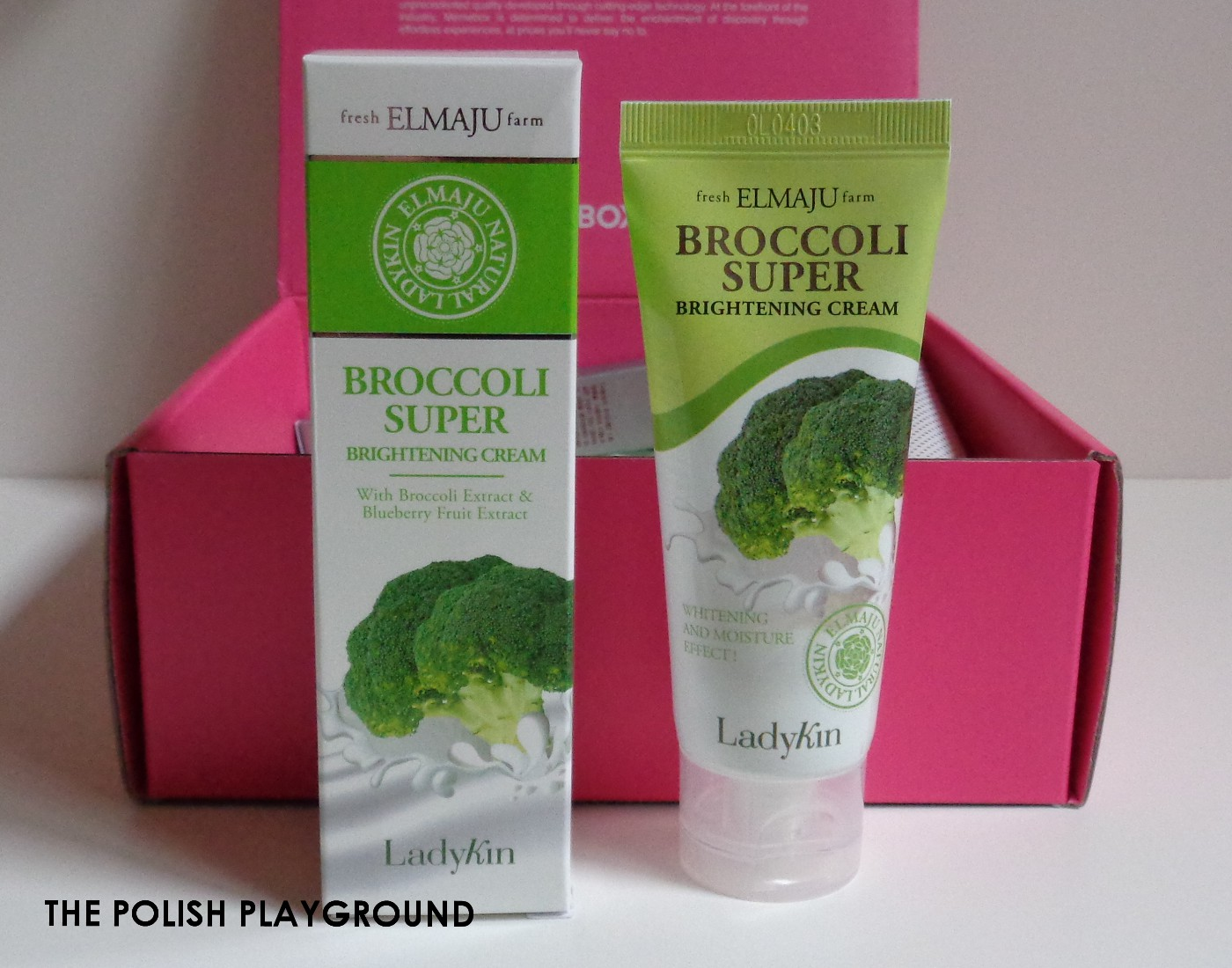 Memebox Special #73 Brighten & Correct Unboxing - LadyKin Broccoli Super Brightening Cream